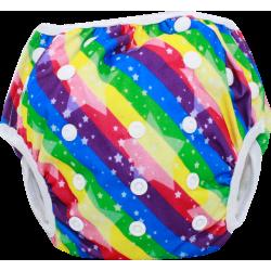 Schwimmwindel Muster - REGENBOGEN Stripes
