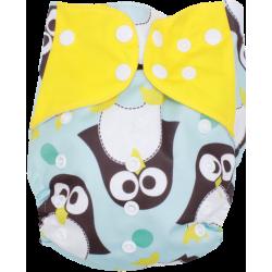 Schwimmwindel Muster - PINGUIN gelb