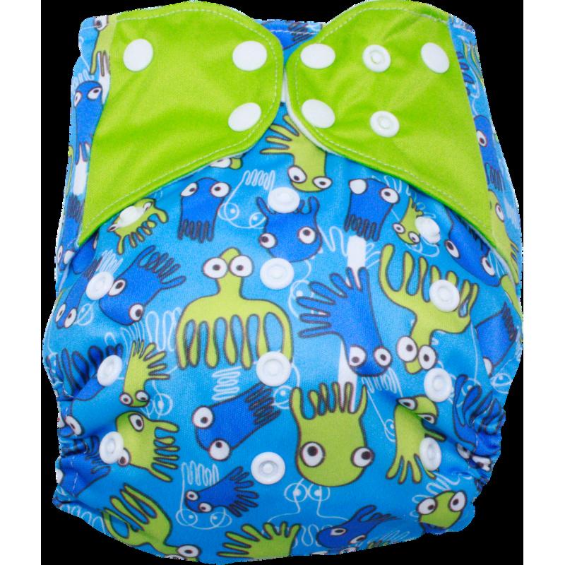 Schwimmwindel Muster - OKTOPUS grün