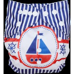 Schwimmwindel Muster - SEGELBOOT Stripes