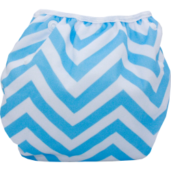 Schwimmwindel Muster - ZICKZACK blau