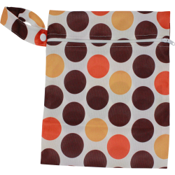 Wetbag mittel (19x24cm) - DOTS orange