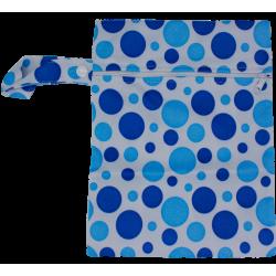 Wetbag mittel (19x24cm) - DOTS blau